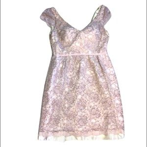 Jenny Yoo Collection Sequin Lace Mini Dress 8
